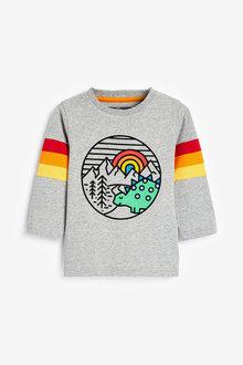 Next Long Sleeve Jersey Dino T-Shirt (3mths-7yrs) - 269399