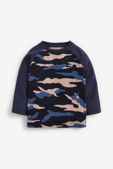 Next Long Sleeve Raglan Camo Printed T-Shirt (3mths-7yrs) - 269412