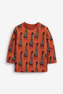 Next Long Sleeve Giraffe Printed T-Shirt (3mths-7yrs) - 269414