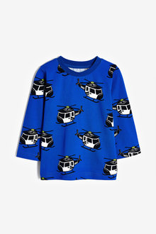 Next Long Sleeve Helicopter Printed T-Shirt (3mths-7yrs) - 269415