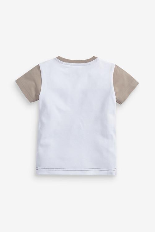 Next Short Sleeve Pique Colourblock T-Shirt (3mths-7yrs)