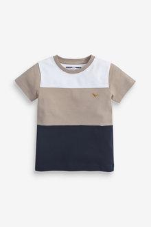 Next Short Sleeve Pique Colourblock T-Shirt (3mths-7yrs) - 269420