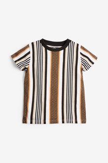 Next Short Sleeve Vertical Stripe T-Shirt (3mths-7yrs) - 269427