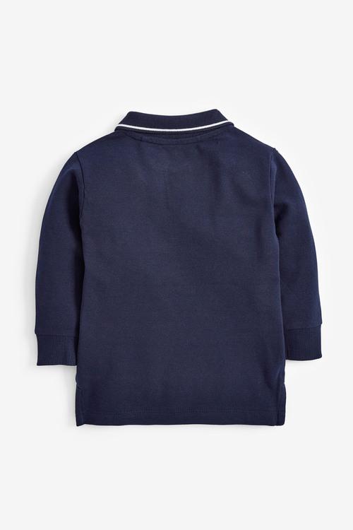 Next Long Sleeve Plain Poloshirt (3mths-7yrs)