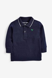 Next Long Sleeve Plain Poloshirt (3mths-7yrs) - 269430