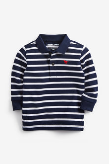 Next Long Sleeve Stripe Polo (3mths-7yrs) - 269434