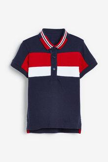 Next Short Sleeve Colourblock Poloshirt (3mths-7yrs) - 269437