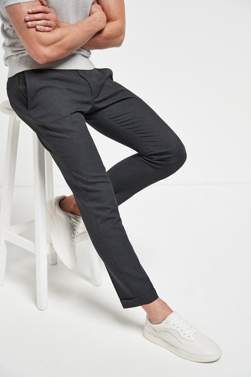 Next Textured Skinny Fit Trousers