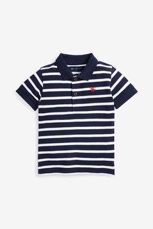 Next Short Sleeve Stripe Polo (3mths-7yrs) - 269443