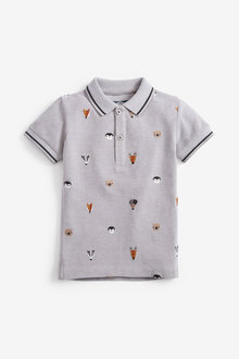 Next Short Sleeve Pique Embroidered Animal Polo (3mths-7yrs) - 269447