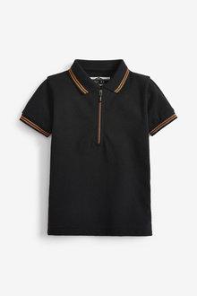 Next Short Sleeve Pique Zip Neck Polo (3mths-7yrs) - 269450