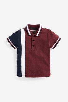 Next Short Sleeve Jersey Colourblock Polo (3mths-7yrs) - 269457