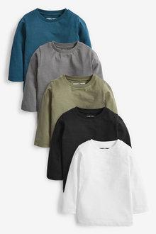 Next 5 Pack Plain Jersey T-Shirts (3mths-7yrs) - 269464