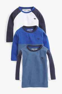 Next 3 Pack Colourblock T Shirts (3mths-7yrs) - 269466