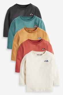 Next 5 Pack Long Sleeve T-Shirts (3mths-7yrs) - 269483