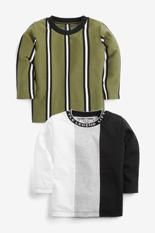 Next Vertical Stripe T-Shirts 2 Pack (3mths-7yrs) - 269486
