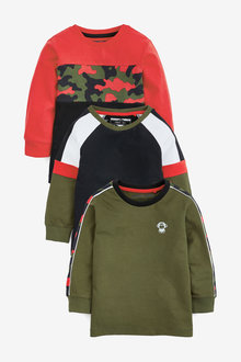 Next 3 Pack Camo Colourblock T-Shirts (3mths-7yrs) - 269487