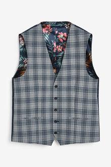 Next Check Suit: Waistcoat - 269494