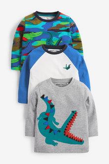 Next 3 Pack Jersey Crocodile T-Shirts (3mths-7yrs) - 269500