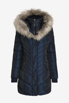 Next Faux Fur Padded Jacket - 269501