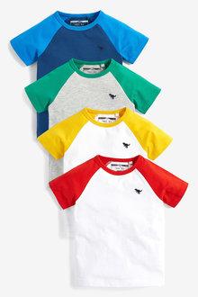 Next 4 Pack Raglan Sleeve T-Shirts (3mths-7yrs) - 269513