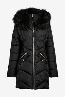 Next Halo Faux Fur Padded Jacket - 269514