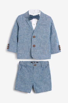 Next Blazer, Shirt, Shorts And Bow Tie Set (3mths-7yrs) - 269539