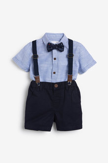 Next Shirt, Shorts, Bow Tie And Braces Set (3mths-7yrs) - 269543