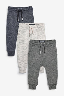 Next 3 Pack Textured Joggers (3mths-7yrs) - 269550
