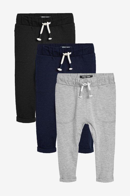 Next 3 Pack Lightweight Joggers (3mths-7yrs)