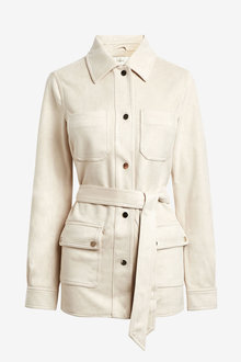 Next Faux Suede Belted Shacket - 269585