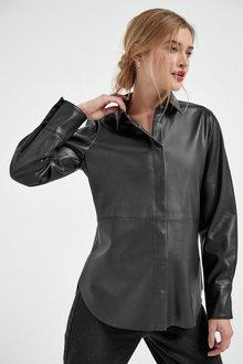Next Faux Leather PU Shirt - 269595