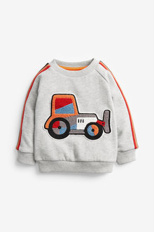 Next Bouclé Tractor Jersey Crew Neck Jumper (3mths-7yrs) - 269615