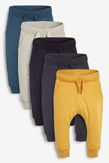Next 5 Pack Scandi Joggers (3mths-7yrs) - 269653