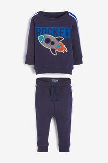 Next Rocket Bouclé Crew And Joggers Set (3mths-7yrs) - 269691