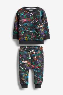 Next Rainbow Splat Crew and Joggers Set (3mths-7yrs) - 269694