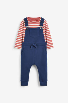 Next Jersey Ottoman Dungarees And T-Shirt Set (3mths-7yrs) - 269712