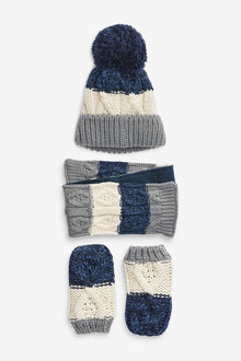Next 3 Piece Hat, Scarf & Gloves Set (Younger) - 269787