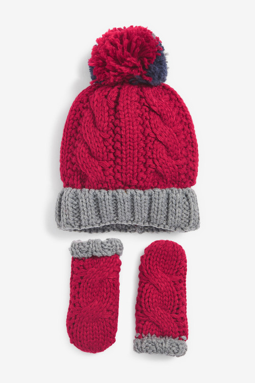 Next 2 Piece Hat And Gloves Set (Younger)