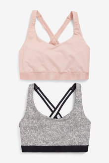 Next Low Impact Sports Crop Tops Two Pack - 269930
