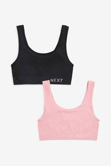 Next Daisy Seamfree Non Padded Logo Crop Tops Two Pack - 269944