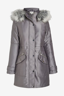 Next Faux Fur Hooded Parka - Tall - 269971