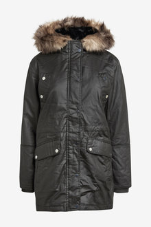 Next Waxy Parka Coat - Tall - 269973