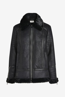 Next Faux Leather Aviator Jacket - Tall - 269980