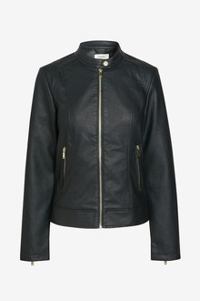 Next Faux Leather Collarless Jacket - Tall - 269990