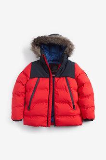 Next Faux Fur Trim Padded Jacket (3-16yrs) - 270000