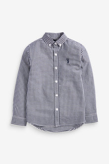 Next Long Sleeve Gingham Check Oxford Shirt (3-16yrs) - 270042