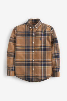 Next Long Sleeve Check Oxford Shirt (3-16yrs) - 270046