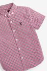 Next Short Sleeve Gingham Oxford Shirt (3-16yrs)