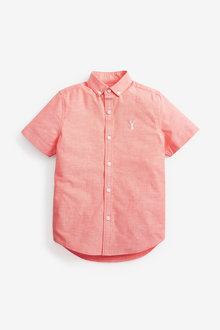 Next Short Sleeve Oxford Shirt (3-16yrs) - 270076